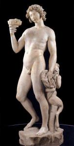 There are also several works by Michelangelo, including his Bacchus.