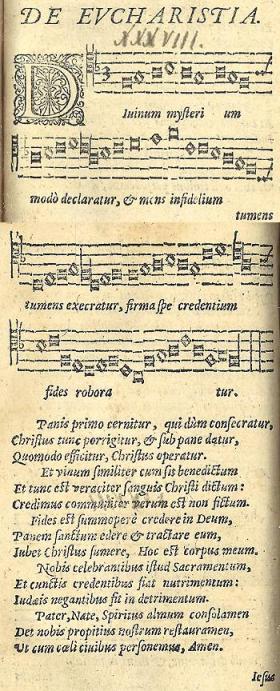 Divinum Mysterium with Latin text.