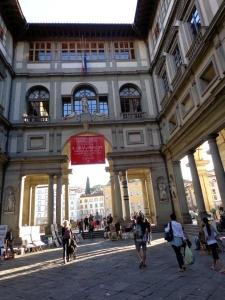 Eventually we do reach the Uffizi.