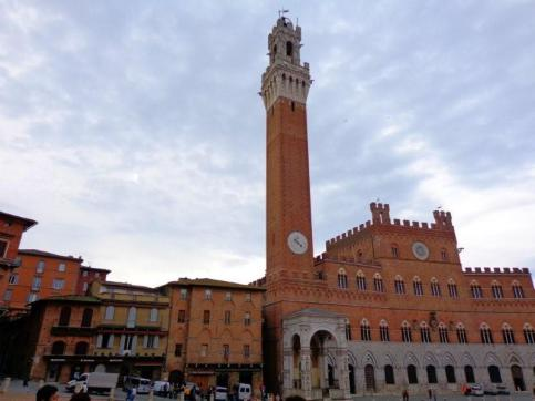 The impressive Piazza del Campo is the geographic and spiritual heart of Siena.