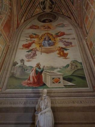 One of the many frescoes...