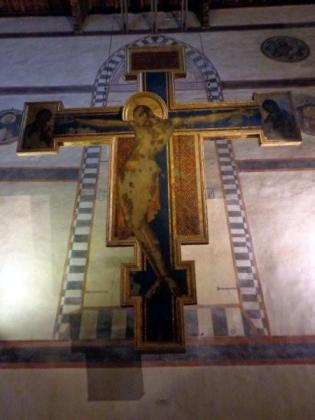 Cimabue's Crucifixion was badly damaged by floods in 1966,