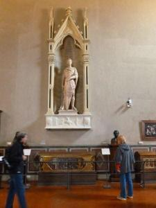 Jane checks out Donatello's St. George in a hall dedicated to the sculptor.