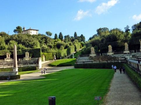 admire the gardens...