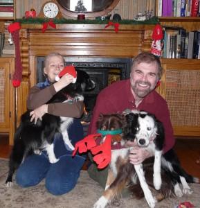 Jane, Bruce and the festive grrrls...
