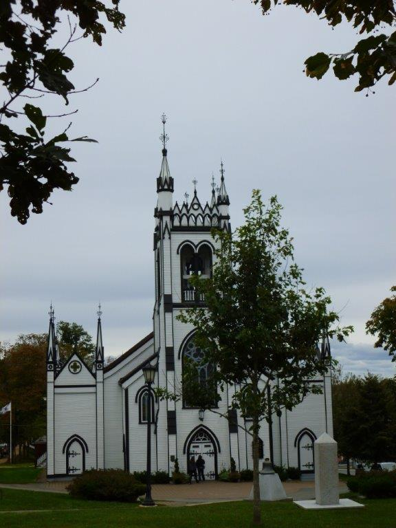 The remarkable wooden St. John's Anglican church...