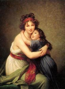 a portrait of leBrun and her daughter,