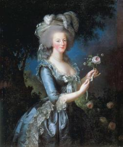 She was portraitist to Marie Antoinette early in her profession...