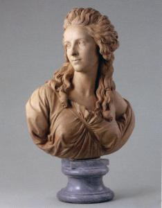 This bust is of, but not by, the artist...