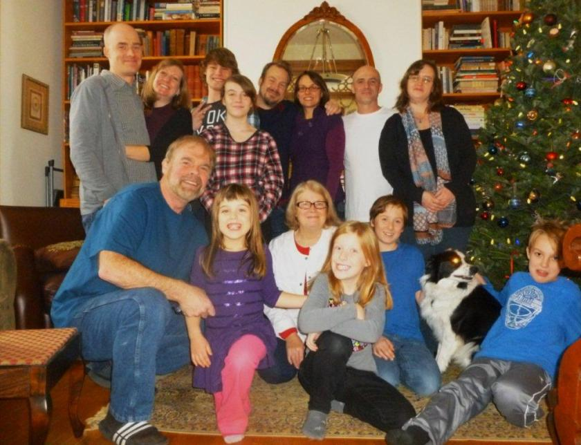 The Morgan Collective (14 of us and a border collie)
